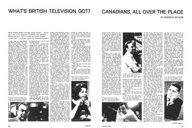 Article Preview: WHAT'S BRITISH TELEVISION GOT? CANADIANS, ALL OVER THE PLACE, January 1965 | Maclean's