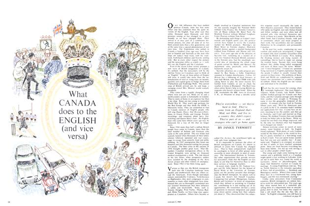 Article Preview: What CANADA does to the ENGLISH (and vice versa), January 1965 | Maclean's