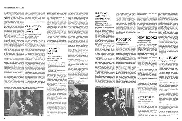 Article Preview: CANADA'S FASTEST POET, January 1965   Maclean's