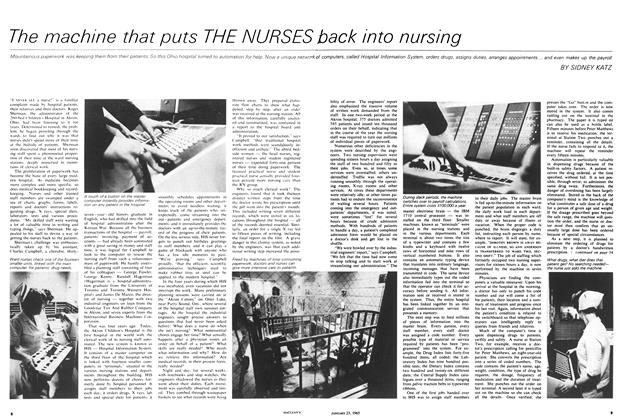 Article Preview: The machine that puts THE NURSES back into nursing, January 1965 | Maclean's