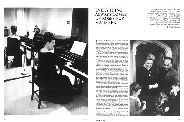 Article Preview: EVERYTHING ALWAYS COMES UP ROSES FOR MAUREEN, January 1965 | Maclean's