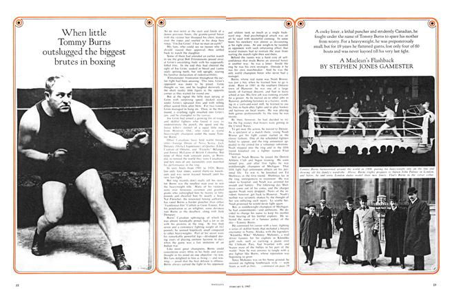 Article Preview: When little Tommy Burns outslugged the biggest brutes in boxing, February 1965 | Maclean's