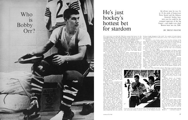 Article Preview: He's just hockey's hottest bet for stardom, February 1965 | Maclean's