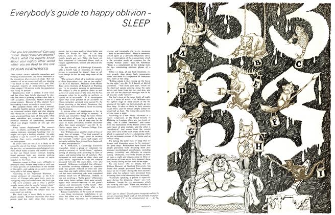 Article Preview: Everybody's guide to happy oblivion-SLEEP, February 1965 | Maclean's