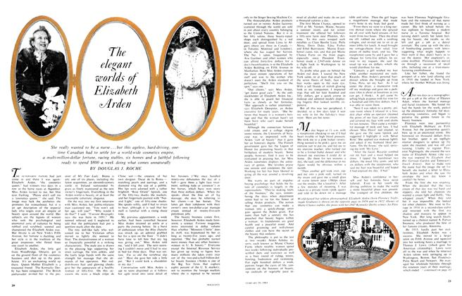 Article Preview: The elegant worlds of Elizabeth Arden, February 1965 | Maclean's