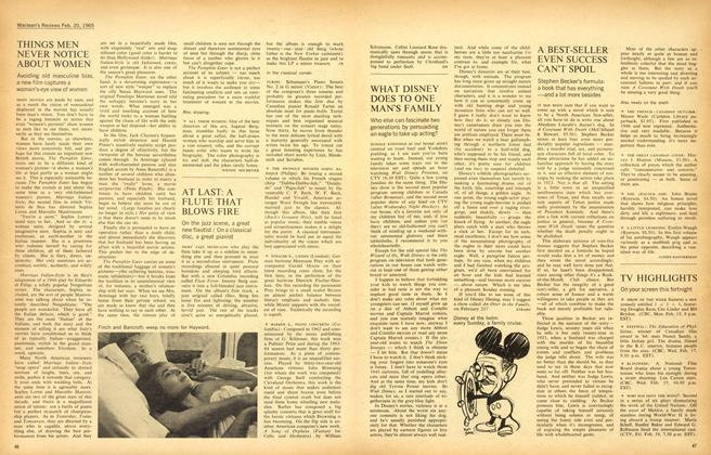 Article Preview: A BEST-SELLER EVEN SUCCESS CAN'T SPOIL, February 1965 | Maclean's
