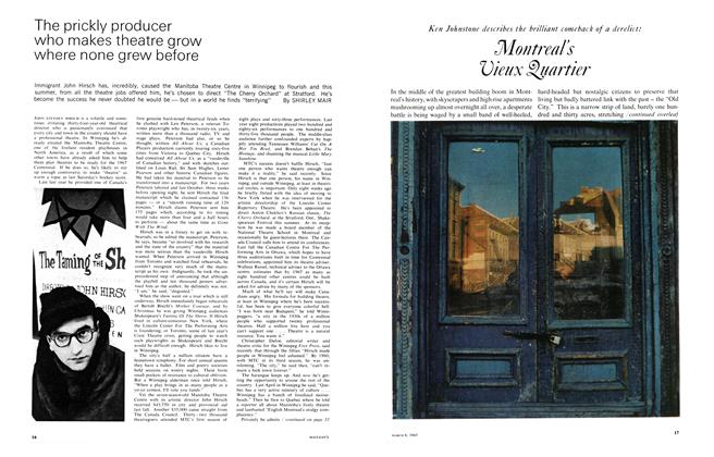 Article Preview: Ken Johnstone describes the brilliant comeback of a derelict: Montreal's Vieux Quartier, March 1965 | Maclean's