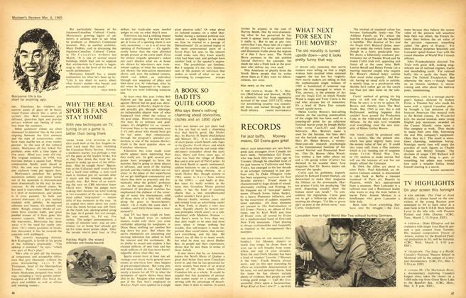 Article Preview: WHAT NEXT FOR SEX IN THE MOVIES?, March 1965 | Maclean's