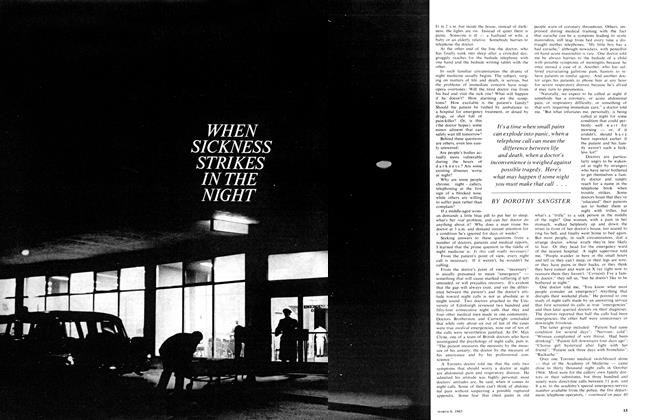 Article Preview: WHEN SICKNESS STRIKES IN THE NIGHT, March 1965 | Maclean's