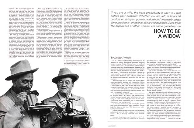 Article Preview: HOW TO BE A WIDOW, March 1965 | Maclean's