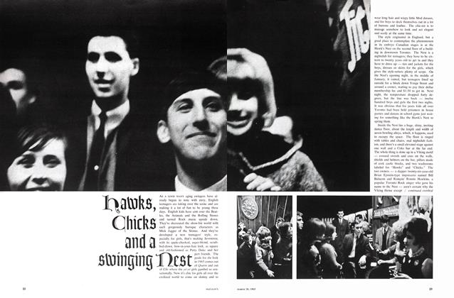 Article Preview: HAWKS, CHICKS AND A SWINGING NEST, March 1965 | Maclean's