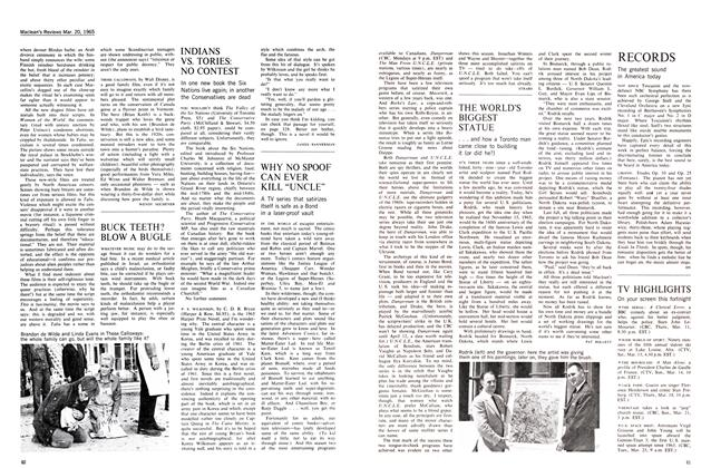 Article Preview: INDIANS VS. TORIES: NO CONTEST, March 1965 | Maclean's