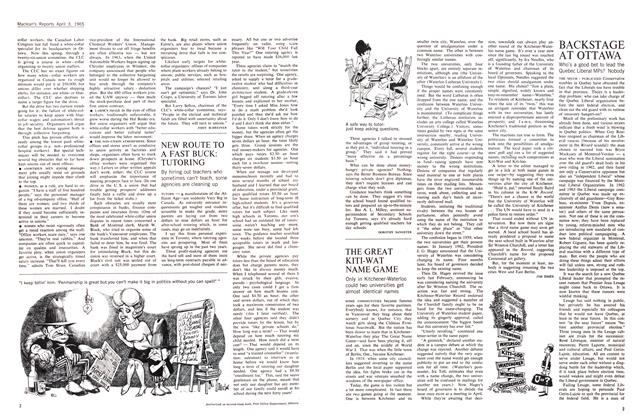 Article Preview: NEW ROUTE TO A FAST BUCK: TUTORING, April 1965 | Maclean's