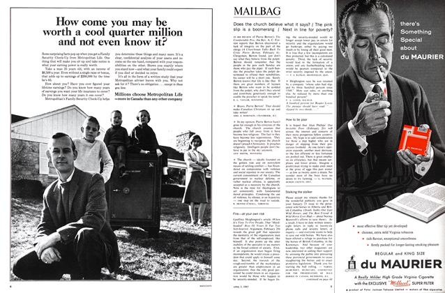 Article Preview: MAILBAG, April 1965 | Maclean's