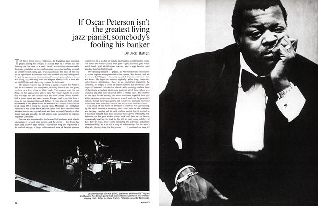 Article Preview: If Oscar Peterson isn't the greatest living jazz pianist, somebody's fooling his banker, April 1965 | Maclean's