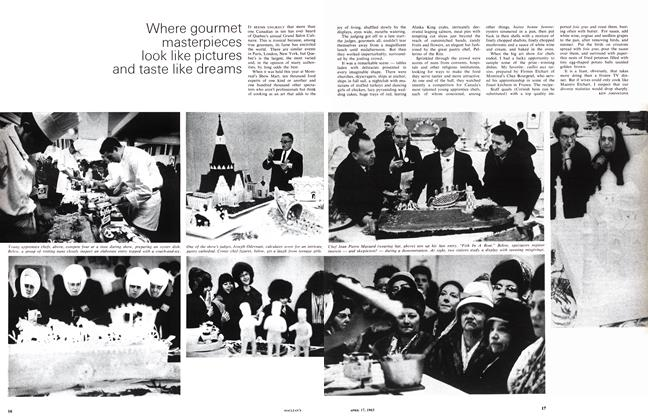 Article Preview: Where gourmet masterpieces look like pictures and taste like dreams, April 1965 | Maclean's