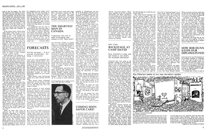 Article Preview: HOW BOB DUNN KEEPS OUR DIPLOMATS FED, May 1965 | Maclean's