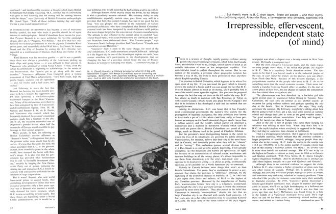 Article Preview: Irrepressible, effervescent, independent state (of mind), May 1965 | Maclean's