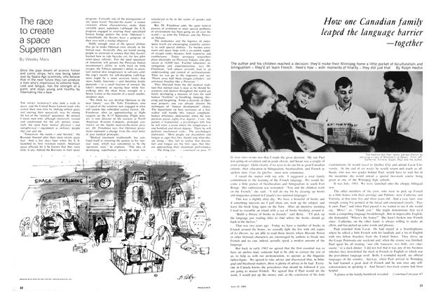 Article Preview: How one Canadian family leaped the language barrier —together, May 1965 | Maclean's