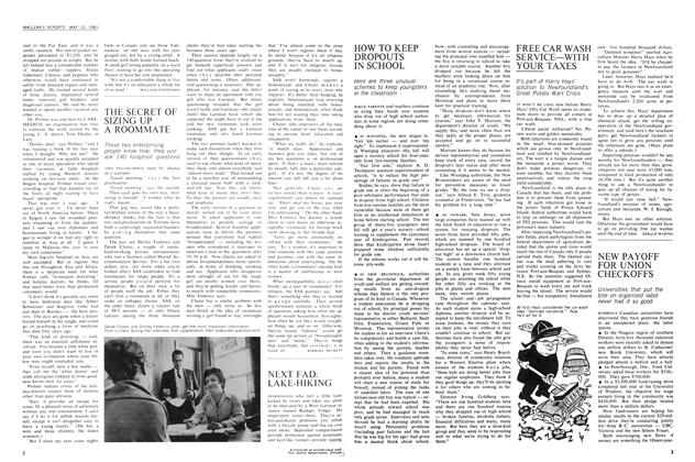 Article Preview: THE SECRET OF SIZING UP A ROOMMATE, May 1965 | Maclean's