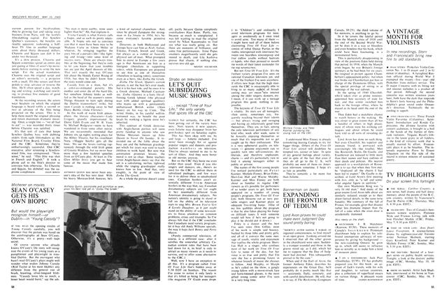 Article Preview: SEAN O'CASEY GETS HIS OWN BIOPIC, May 1965 | Maclean's