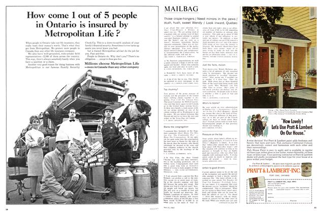 Article Preview: MAILBAG, May 1965 | Maclean's