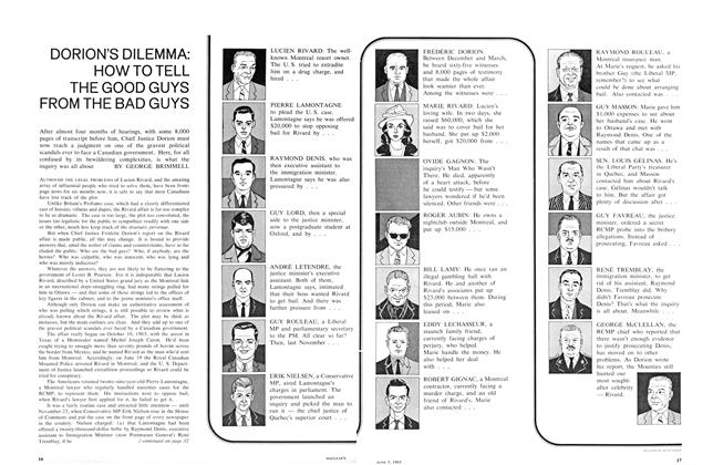 Article Preview: HOW TO TELL THE GOOD GUYS FROM THE BAD GUYS, June 1965 | Maclean's