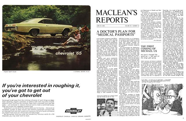 Article Preview: THE FIRST COMING OF MICHAEL US, June 1965 | Maclean's