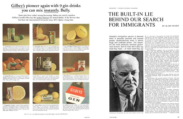 Article Preview: THE BUILT-IN LIE BEHIND OUR SEARCH FOR IMMIGRANTS, June 1965 | Maclean's