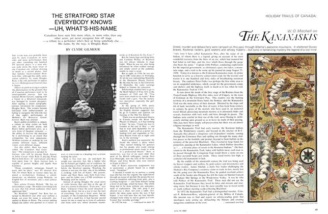 Article Preview: THE STRATFORD STAR EVERYBODY KNOWS —UH, WHAT'S-HIS-NAME, June 1965 | Maclean's