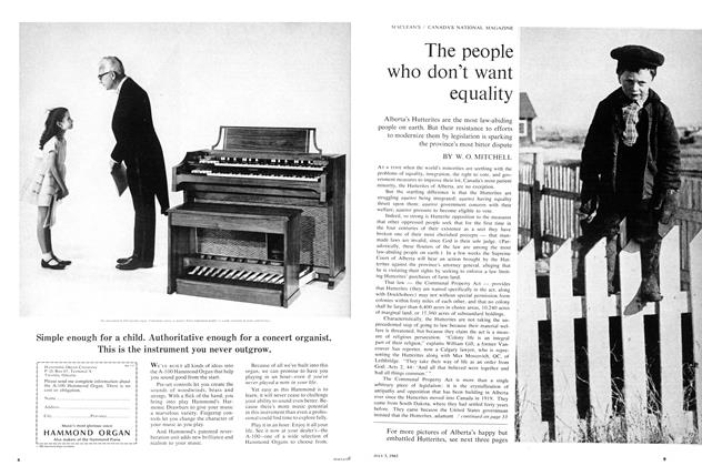 Article Preview: The people who don't want equality, July 1965 | Maclean's