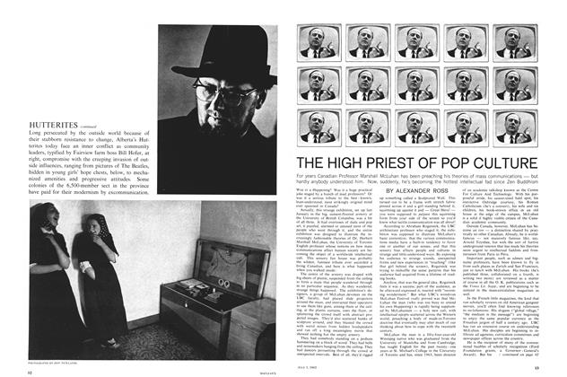 Article Preview: THE HIGH PRIEST OF POP CULTURE, July 1965 | Maclean's