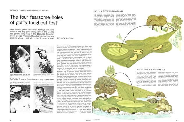 Article Preview: The four fearsome holes of golf's toughest test, July 1965 | Maclean's