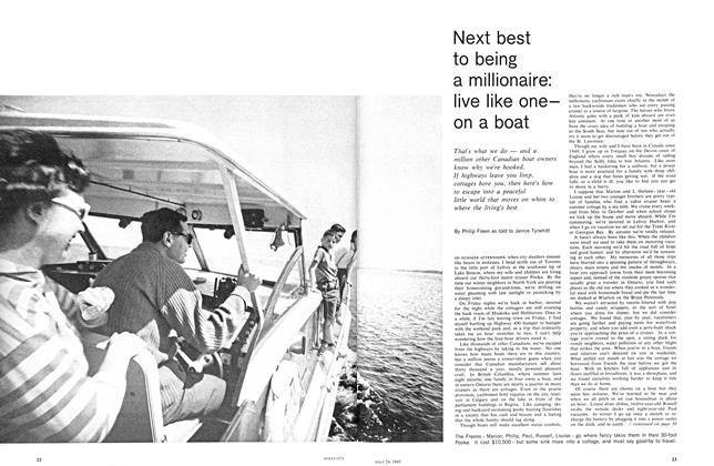 Article Preview: Next best to being a millionaire: live like oneon a boat, July 1965 | Maclean's
