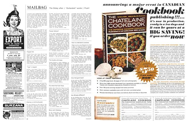 Article Preview: MAILBAG, August 1965 | Maclean's