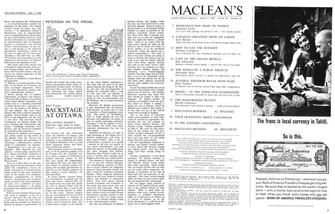 Article Preview: BACKSTAGE AT OTTAWA, August 1965 | Maclean's