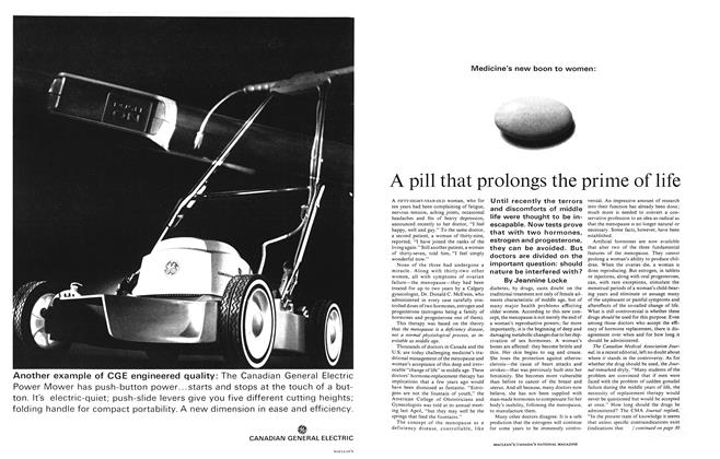 Article Preview: A pill that prolongs the prime of life, August 1965 | Maclean's