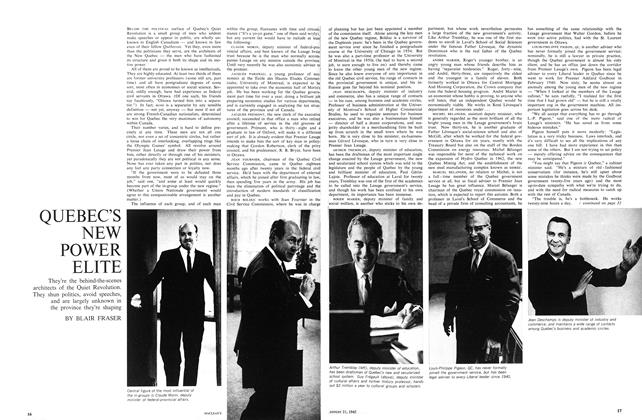 Article Preview: QUEBEC'S NEW POWER ELITE, August 1965 | Maclean's
