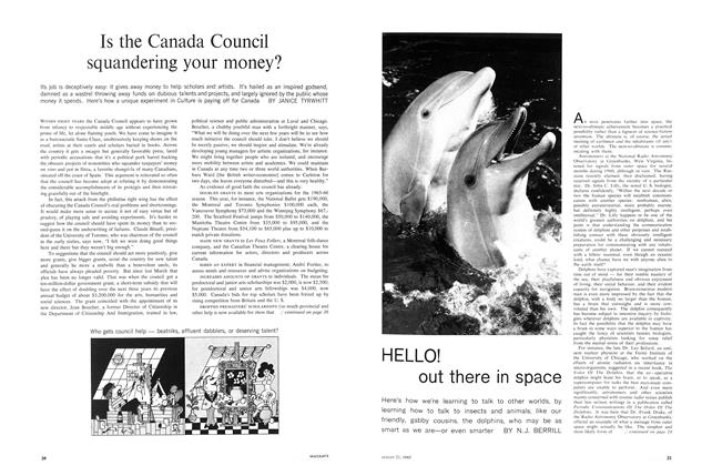 Article Preview: Is the Canada Council squandering your money?, August 1965 | Maclean's