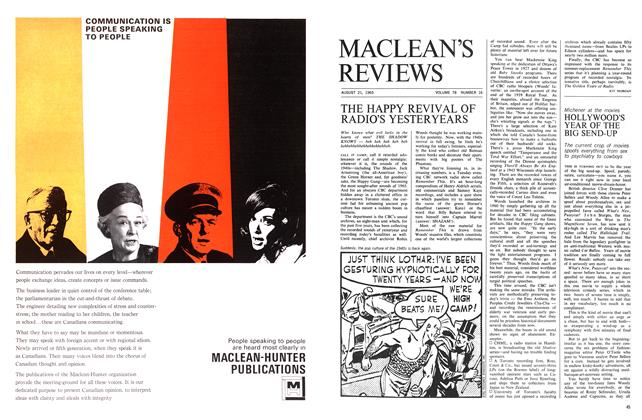 Article Preview: HOLLYWOOD'S YEAR OF THE BIG SEND-UP, August 1965 | Maclean's