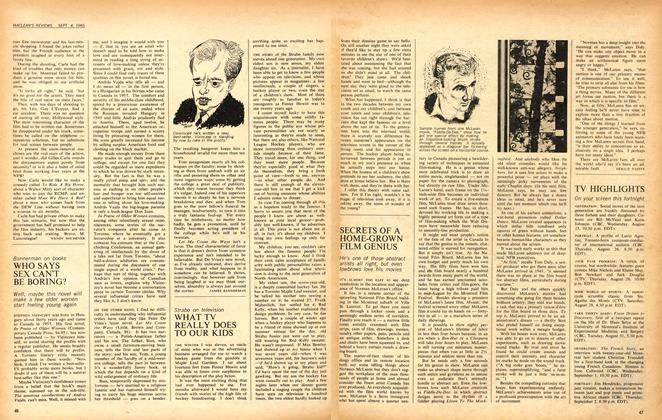 Article Preview: SECRETS OF A HOME-GROWN FILM GENIUS, September 1965 | Maclean's