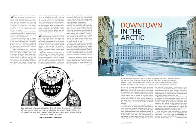 Article Preview: DOWNTOWN IN THE ARCTIC, September 1965 | Maclean's