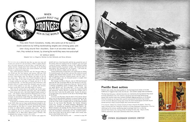 Article Preview: WHEN CANADA BUILT THE STRONGEST MEN IN THE WORLD, September 1965 | Maclean's