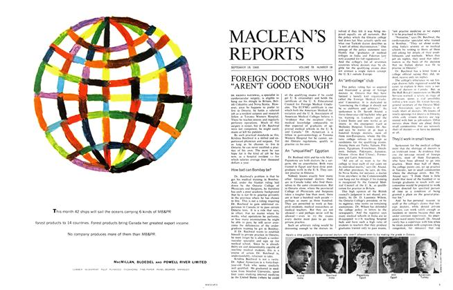 "Article Preview: FOREIGN DOCTORS WHO ""AREN'T GOOD ENOUGH"", September 1965 