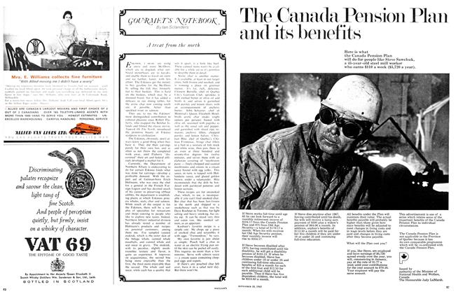 Article Preview: GOURMENT'S NOTEBOOK, September 1965 | Maclean's