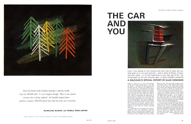 Article Preview: THE CAR AND YOU, October 1965 | Maclean's