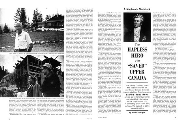 "Article Preview: The HAPLESS HERO who ""SAVED"" UPPER CANADA, October 1965 