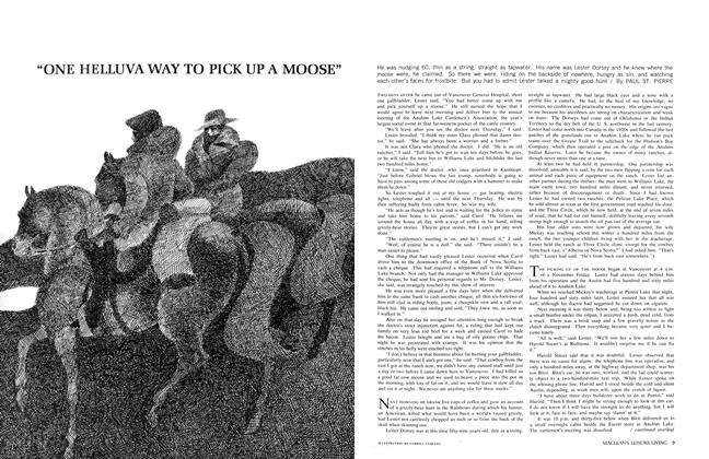 """Article Preview: """"ONE HELLUVA WAY TO PICK UP A MOOSE"""", October 1965 