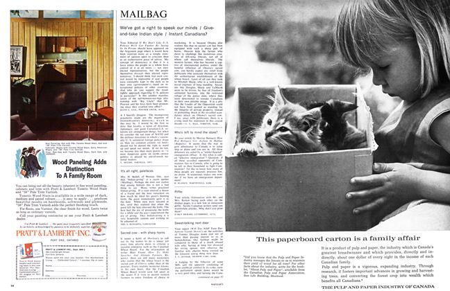 Article Preview: MAILBAG, October 1965 | Maclean's