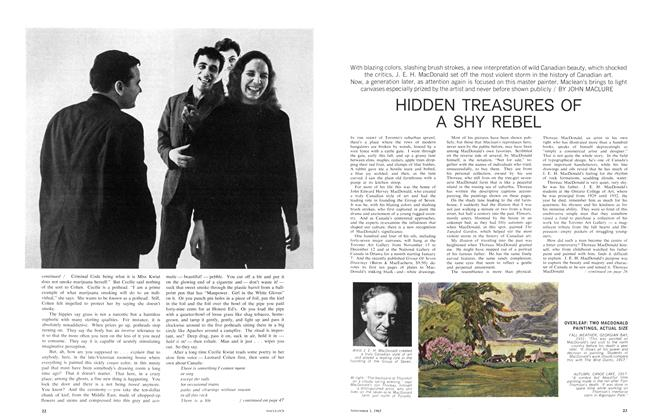 Article Preview: HIDDEN TREASURES OF A SHY REBEL, November 1965 | Maclean's